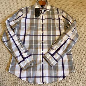 Plaid Button Up Dress Shirt (S)
